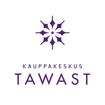 kauppakeskus tawast logo valkoinen